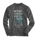 Feathers, God Is Faithful, Long Sleeve Shirt, Large