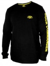 Duck Commander Long Sleeve Shirt: Black/Yellow | Small
