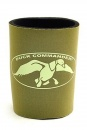 Duck Commander Can Cooler: (Green/Tan)