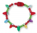 Lotsa Lites Magnetic Flashing Holiday Bulb Bracelet